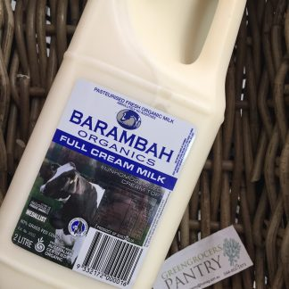 milk full cream organic 2lt barambah