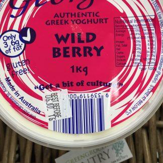 Yoghurt authentic Greek wild berry 1kg