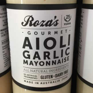 Mayonnaise Aioli Garlic 240ml Rozas Gourmet sauces